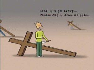 不要輕易砍短自己人生的十字架